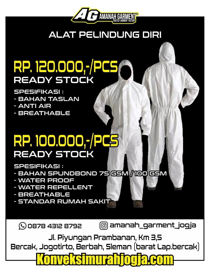 Harga baju apd alat pelindung diri hazmat lengkap Padang Sumatra Barat